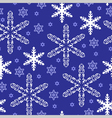 pattern gold snow blue vector image vector image
