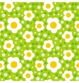 Pattern with bold and stylized flowers
