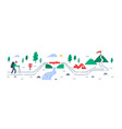person trail walking mountain ascent vector image vector image