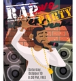 Rap Concert Poster vector image vector image