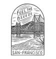retro summer san francisco surf badge vintage vector image vector image