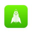 rocket icon digital green vector image