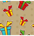 Seamless repeating pattern with colorful gift vector image vector image