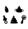 set icons items for the infant baby vector image vector image