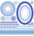 Set of blue Christmas frames vector image vector image