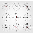 set of dials vector image vector image