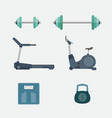 set of fitness tool body building vector image