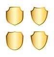 shield gold icons set shape emblem vector image vector image