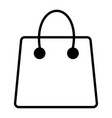 shopping bag - icon vector image vector image