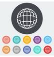 Simple World globe 2 vector image vector image