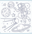 spaceman planets stars and vector image