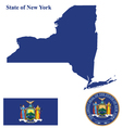 state new york flag vector image vector image