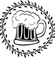 stencil glass beer vector image vector image