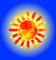 stencil of the sun vector image vector image