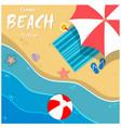 summer beach festival beach umbrella chair backgro vector image vector image