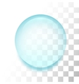 Transparent drop with shadow and reflection vector image vector image