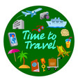travel and journey banner vector image vector image
