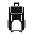 travel bag icon simple style vector image vector image