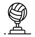volleyball cup icon outline style vector image vector image