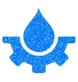 Water Service Grainy Texture Icon vector image vector image