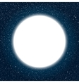white round frame starry night sky vector image vector image
