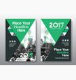 green color scheme business book cover design vector image