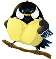 bird titmouse on white background vector image