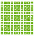 100 loader icons set grunge green vector image vector image