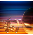 abstract blur music background with trumpet vector image vector image