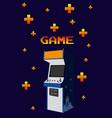 arcage vintage game vector image vector image