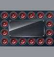 audio speakers subwoofers wall of sound vector image