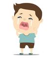 baby boy crying vector image