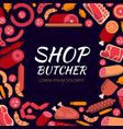 background for butcher shop various vector image vector image