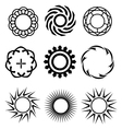 black circle design elements 1 vector image vector image