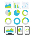Business chart and graph icons vector image vector image