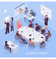 business training isometric vector image vector image