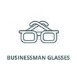 businessman glasses line icon businessman vector image vector image