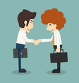 Businessman handshake businessmen making a deal vector image