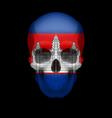 cambodian flag skull vector image vector image
