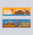 canadian symbols and landmarks vector image vector image