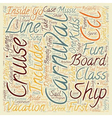 carnival cruise line text background wordcloud vector image vector image