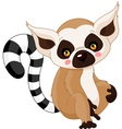 cartoon lemur vector image vector image