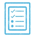 Checklist Page Icon Rubber Stamp vector image