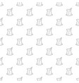 cold tea pattern seamless vector image