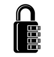 combination lock icon simple style vector image vector image
