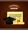 congratulations graduation card vector image