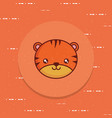 cute tiger icon image vector image