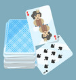 deck of cards with two items on vector image vector image