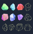 design of crystal polygon shapes vector image vector image
