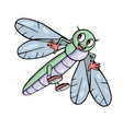 dragonfly cute insect cartoon vector image